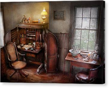 Crutch Canvas Print - Doctor - In The Doctors Study  by Mike Savad
