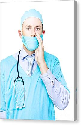 Doctor Making A Health Announcement Canvas Print by Jorgo Photography - Wall Art Gallery