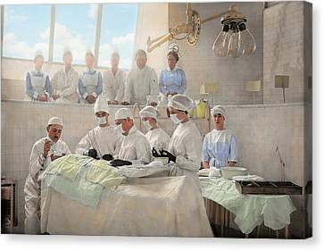 Doctor - Operation Theatre 1905 Canvas Print by Mike Savad