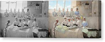 Doctor - Operation Theatre 1905 - Side By Side Canvas Print by Mike Savad