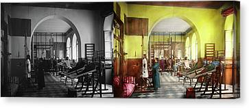 Canvas Print featuring the photograph Doctor - Physical Therapist - Welcome To The A Traction 1918 - Side By Side by Mike Savad