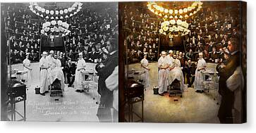 Doctor - Surgeon - Standing Room Only 1902 Side By Side Canvas Print by Mike Savad