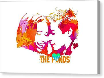 Doctor Who Inspired, The Ponds Canvas Print by Alondra Hanley
