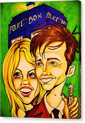 Doctor Who Canvas Print by Penny  Elliott