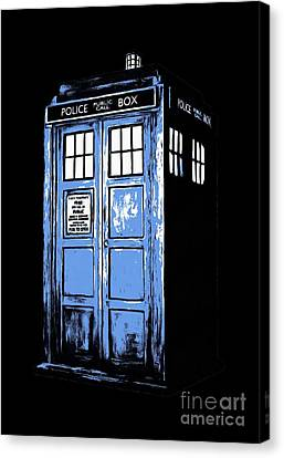 Doctor Who Tardis Canvas Print by Edward Fielding