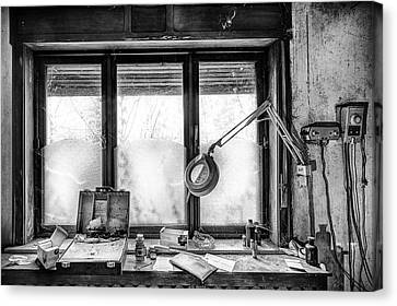 Doctors Cabinet Detail - Abandoned Building Canvas Print