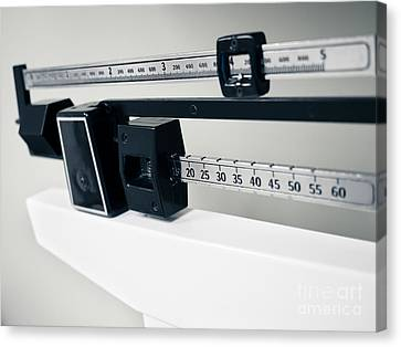 Doctor's Sliding Weight Balance Beam Scale Canvas Print