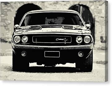 Dodge Challenger 1970 Canvas Print by Andrea Mazzocchetti