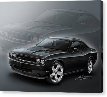 2012 Canvas Print - Dodge Challenger 2013 by Etienne Carignan