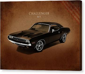 Dodge Challenger Rt Canvas Print by Mark Rogan