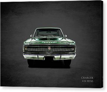 Dodge Charger 426 Hemi Canvas Print by Mark Rogan