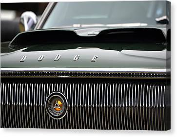Dodge Charger Hood Canvas Print by Dean Ferreira