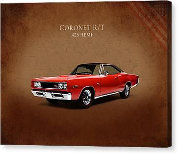 Dodge Coronet 426 Hemi Canvas Print by Mark Rogan