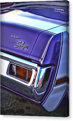 Panel Door Canvas Print - Dodge Dart Swinger by Gordon Dean II