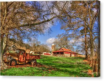 Dodge Dump Truck At The Resting Place Canvas Print by Reid Callaway