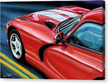 Dodge Viper Coupe Canvas Print by David Kyte