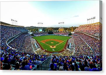 Dodger Stadium Canvas Print - Dodger Stadium by Mountain Dreams