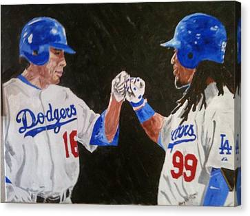 Dodgers Duo Canvas Print by Daryl Williams Jr