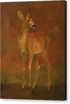 Doe Canvas Print by Attila Meszlenyi