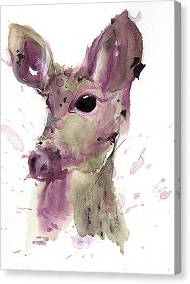 Canvas Print featuring the painting Doe by Dawn Derman
