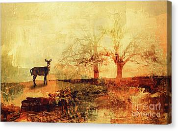 Clearing Canvas Print - Doe In The Clearing by KaFra Art