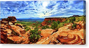 Doe Mountain Vista Canvas Print by ABeautifulSky Photography