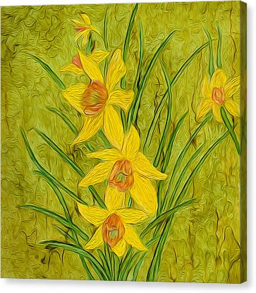 Daffodils Too Canvas Print