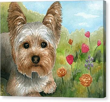 Dog 117 Canvas Print by Lucie Dumas