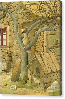 Dog And Cat Canvas Print by Kestutis Kasparavicius