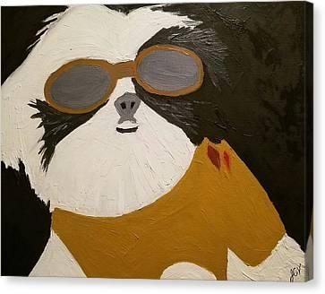 Dog Boss Canvas Print by J Cv