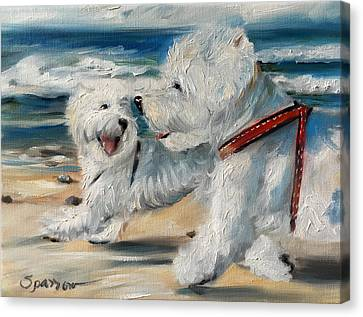 West Highland Canvas Print - Dog Days Of Summer by Mary Sparrow