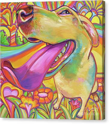 Dog Daze Of Summer Canvas Print