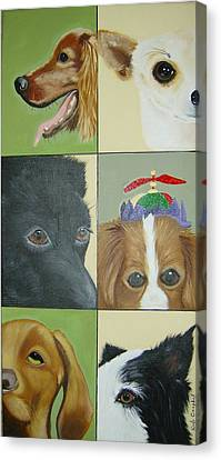 Dog Faces Of Love Canvas Print