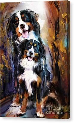 Dog Family Canvas Print