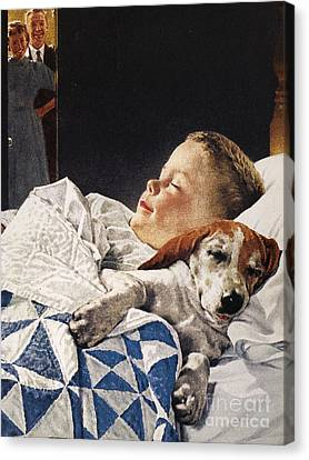 Dog Food Ad, 1956 Canvas Print by Granger