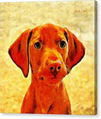 Dog Friend 2 - Pa Canvas Print by Leonardo Digenio
