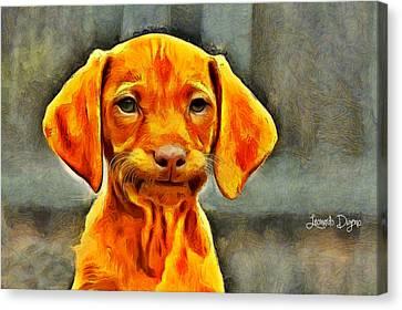 Dog Friend Canvas Print by Leonardo Digenio