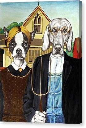 Dog Gothic Canvas Print