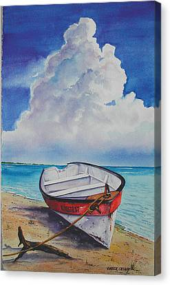 Dog Island Dorie Canvas Print by Chuck Creasy
