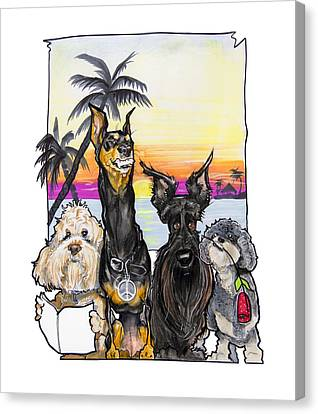 Tropical Sunset Canvas Print - Dog Island Getaway by John LaFree