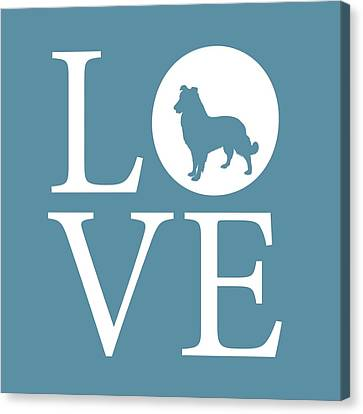 Dog Love Canvas Print by Nancy Ingersoll