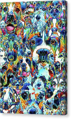 Dog Lovers Delight - Sharon Cummings Canvas Print by Sharon Cummings