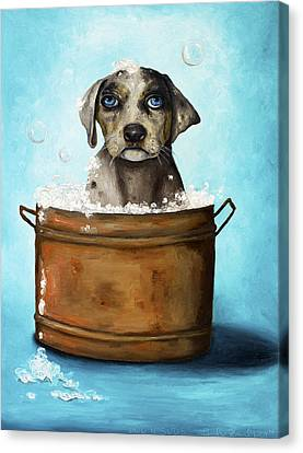 Dog N Suds Canvas Print