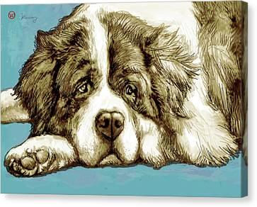 Dog -  New Pop Art Poster Canvas Print