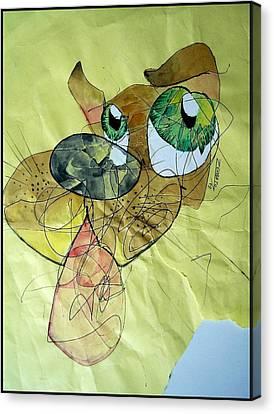 Dog Canvas Print by Paulo Zerbato