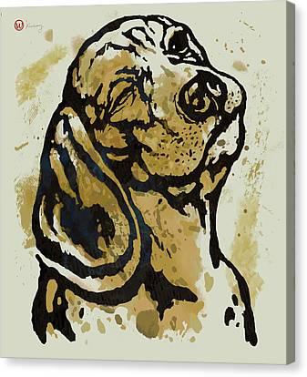 Dog Pop Art Poster Canvas Print