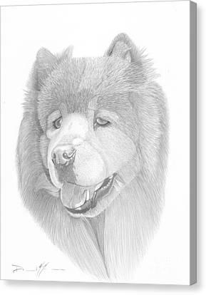 Dog Portrait Logi Canvas Print