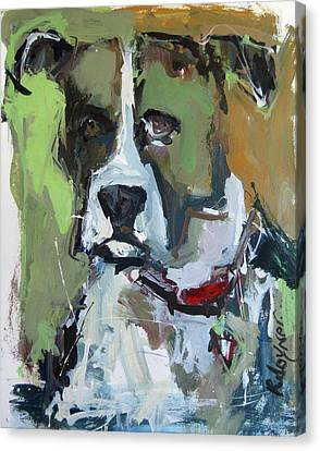 Canvas Print featuring the painting Dog Portrait by Robert Joyner