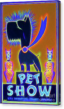 Dog Show Vintage Poster Glow Canvas Print by Charles Haaland