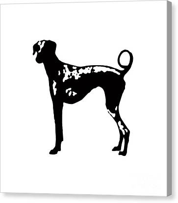 Dog Tee Canvas Print by Edward Fielding